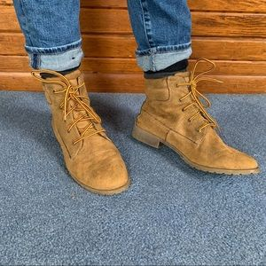 Mad Love Brand Faux Suede Boots